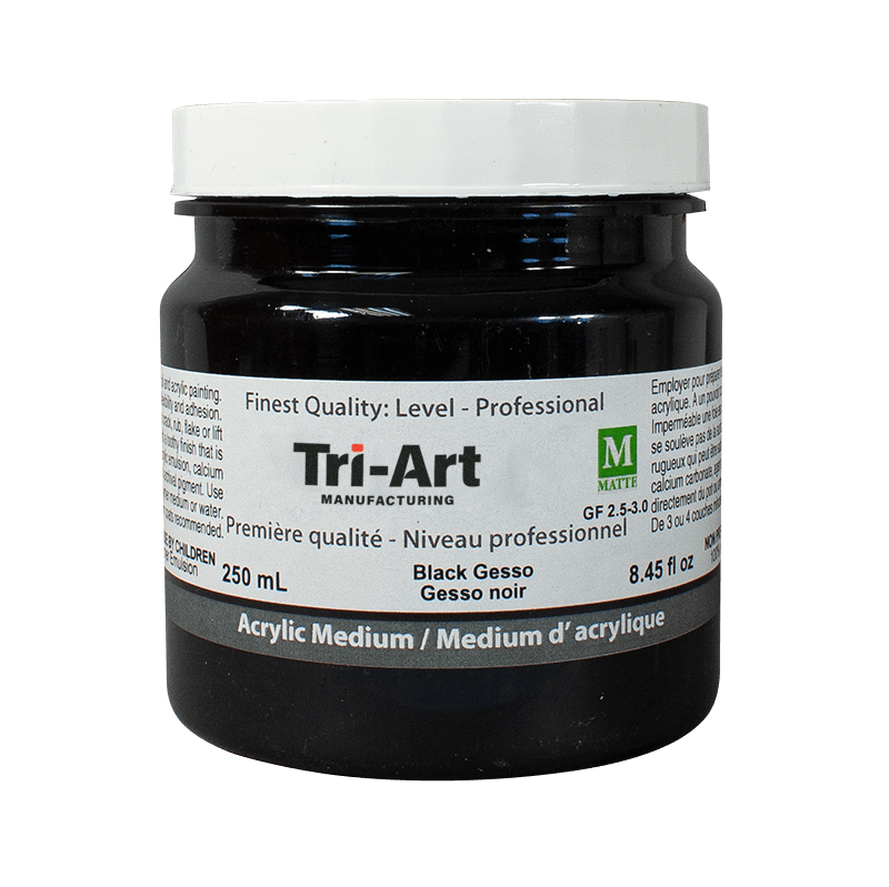 black gesso in jar.