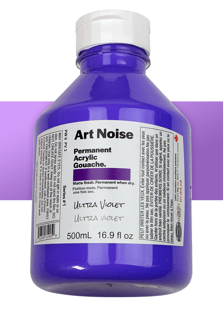 a bottle of purple acrylic paint