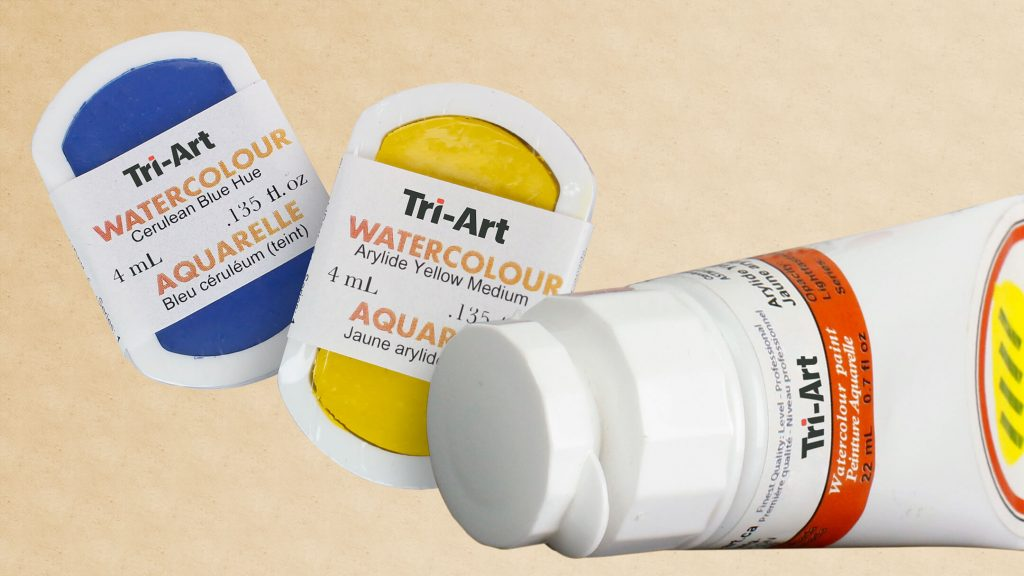 watercolours in multiple formats pans and tubes