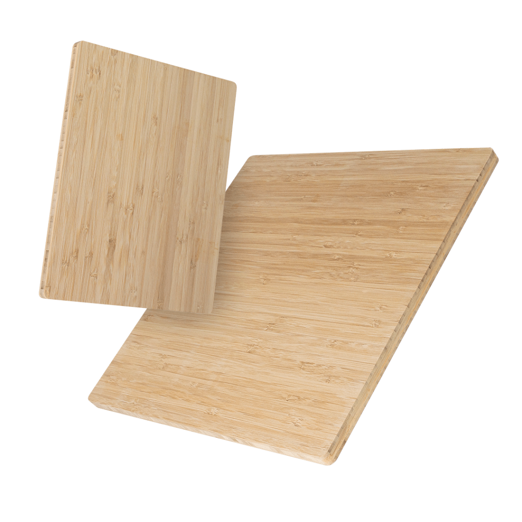 two sizes of bamboo panels