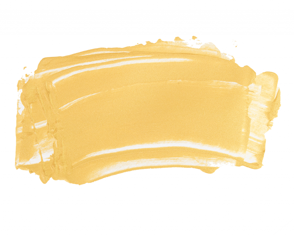 gold metallic paint in a wide smear