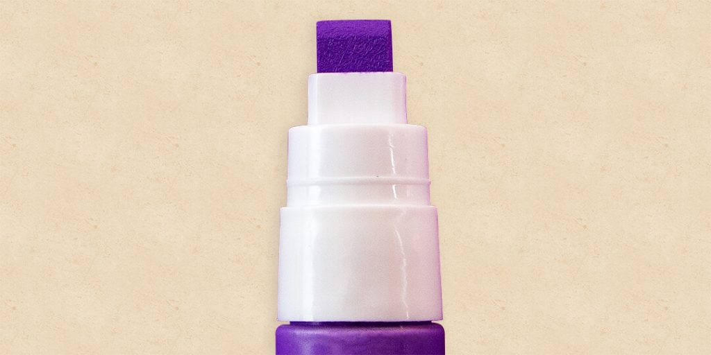 a purple paint marker nib