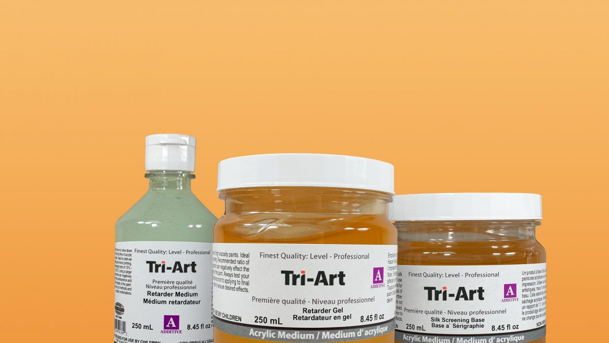 a trio of tri-art additive mediums