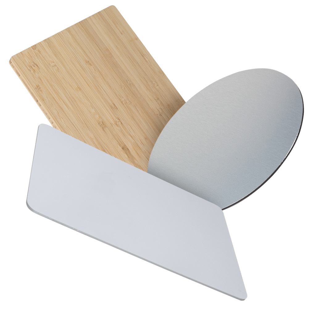 a grouping of surfaces accessories falling on-top of each other