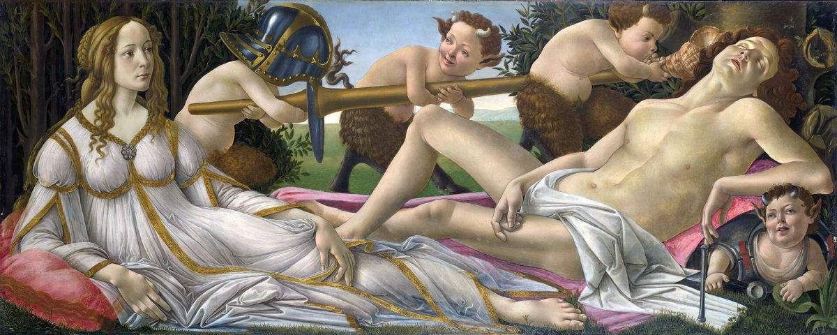 a painting, Venus and Mars by Sandro Botticelli