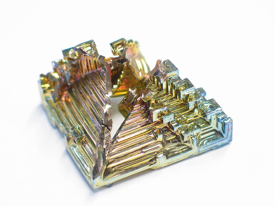synthetic bismuth crystal