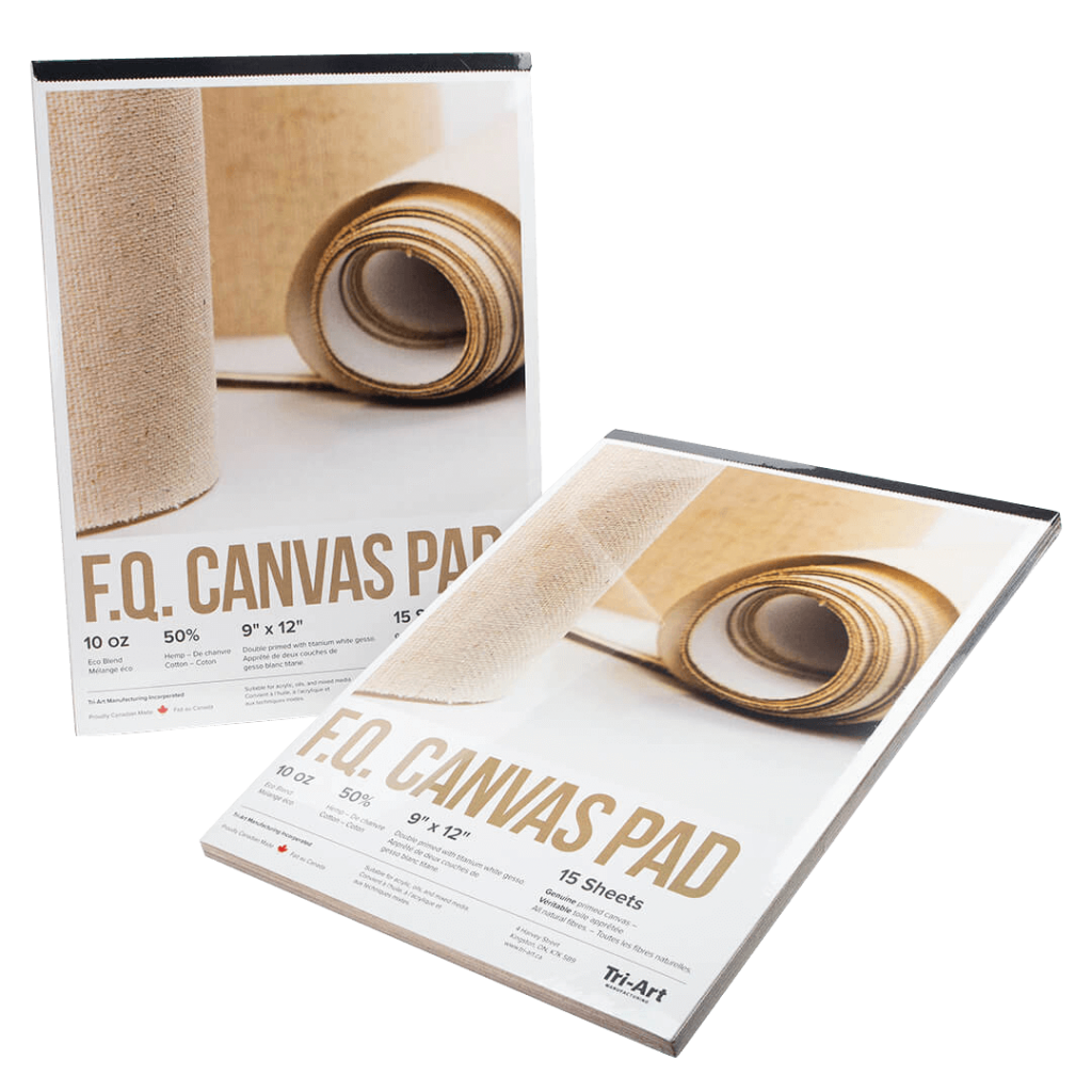 two booklets of artist canvas pads