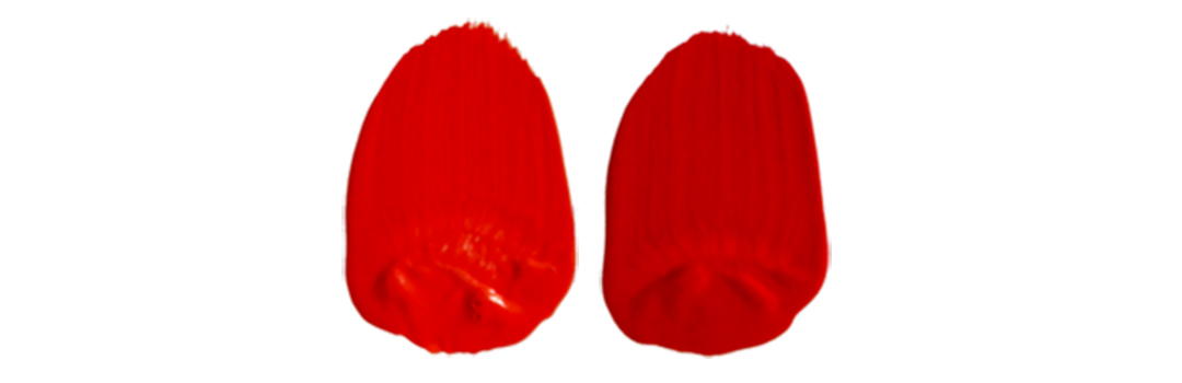 two pyrrole red swatches